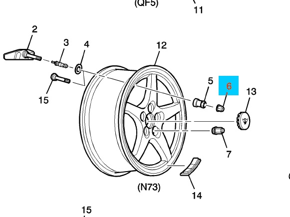 gm oem tpms tire pressure monitor