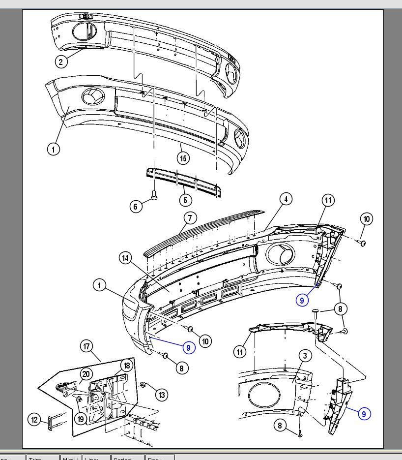 dodge chrysler 03 09 ram 2500 front bumper side bracket