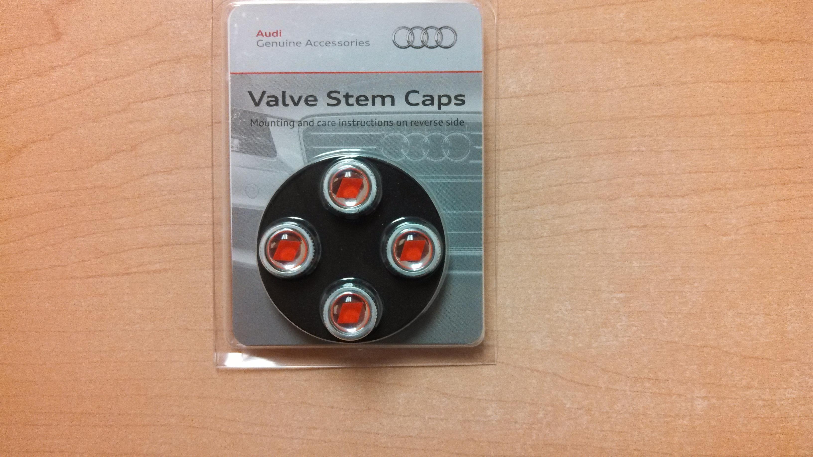 Tire Valve Stem Cap Valve Stem Caps Red Audi Sport Logo