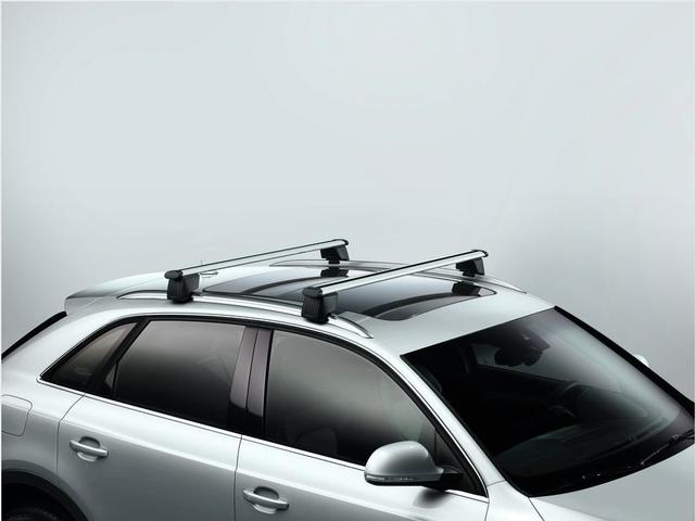 audi q3 2015 2017 genuine oem roof rack base carrier bars. Black Bedroom Furniture Sets. Home Design Ideas