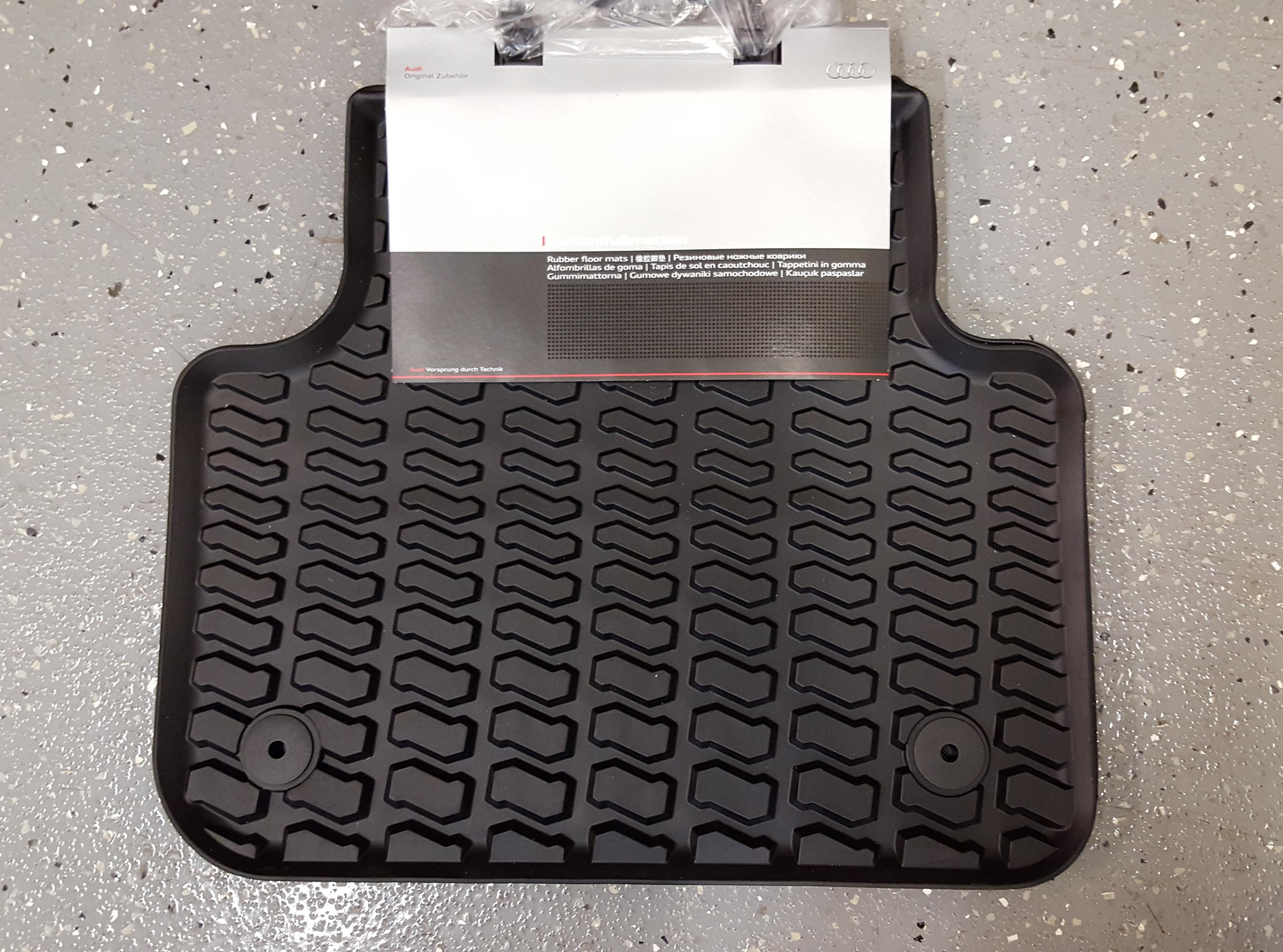 Q7 rubber floor mats - Audi Q7 2017 Genuine Oem Floor Mats Rear Pair 4m0 061 511 041