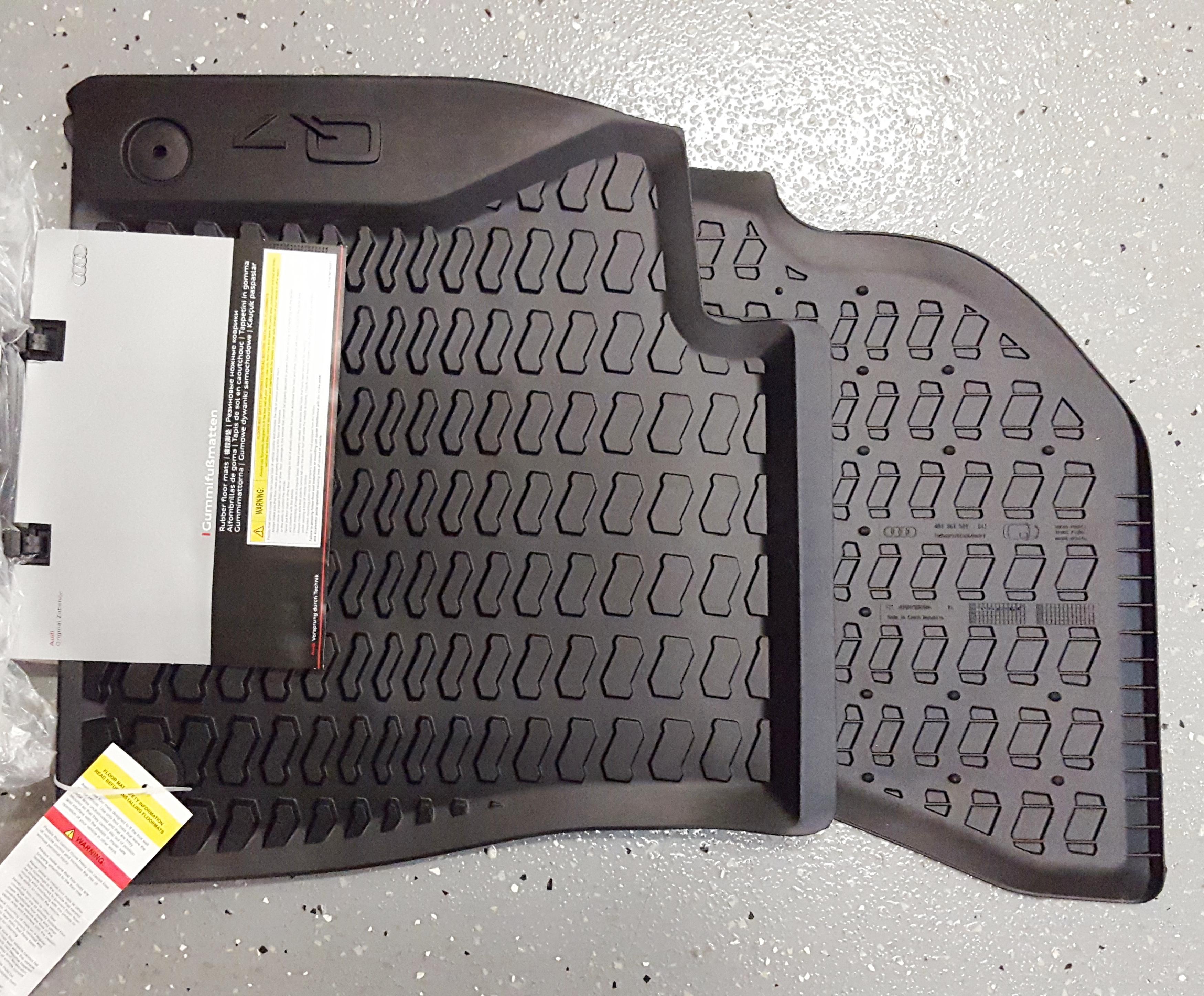 Q7 rubber floor mats - Audi Q7 2017 Genuine Oem Floor Mats 4m1 061 221 041 Front Pair