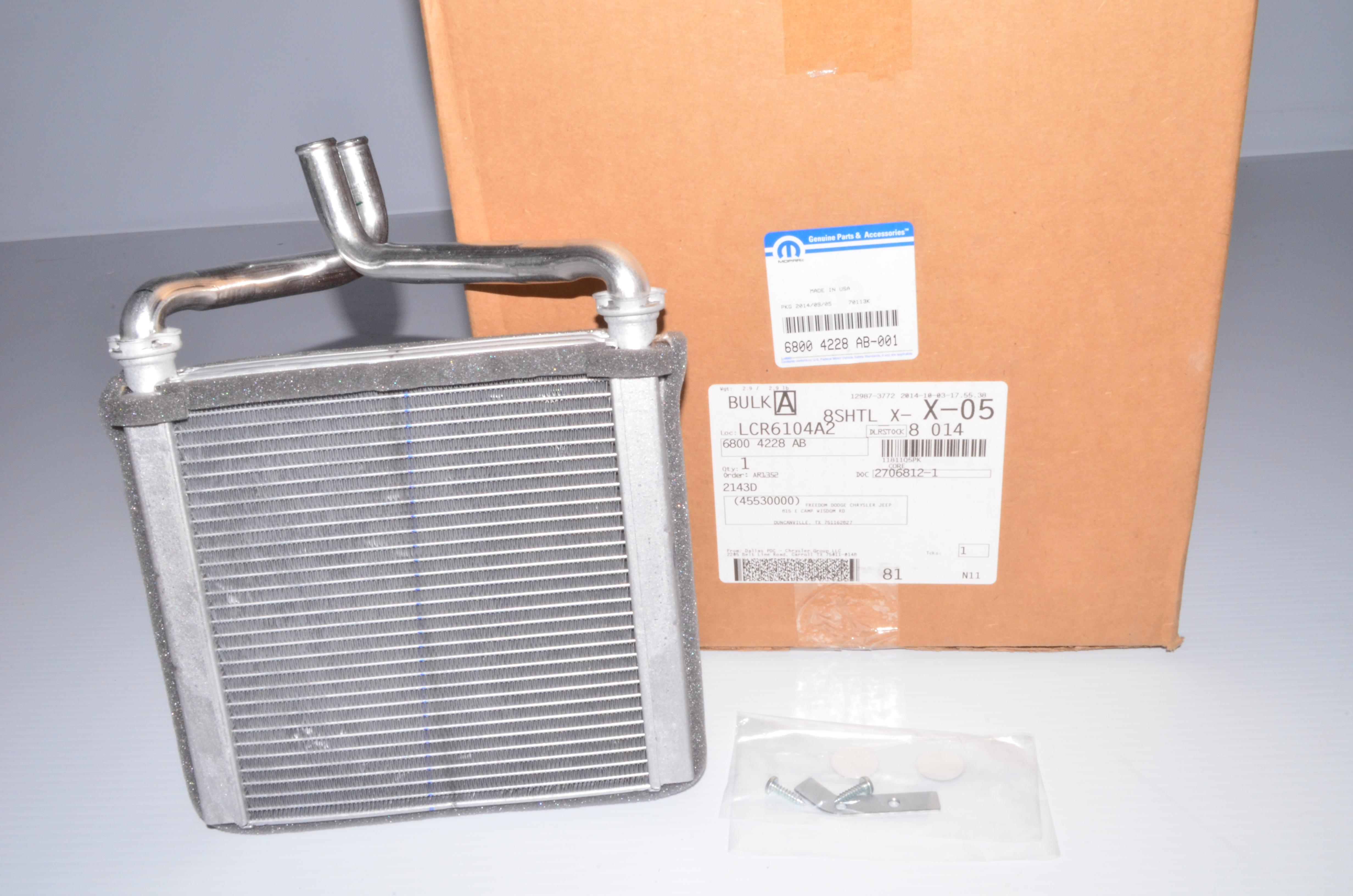 Dba B on 99 Dakota Heater Core Replacement