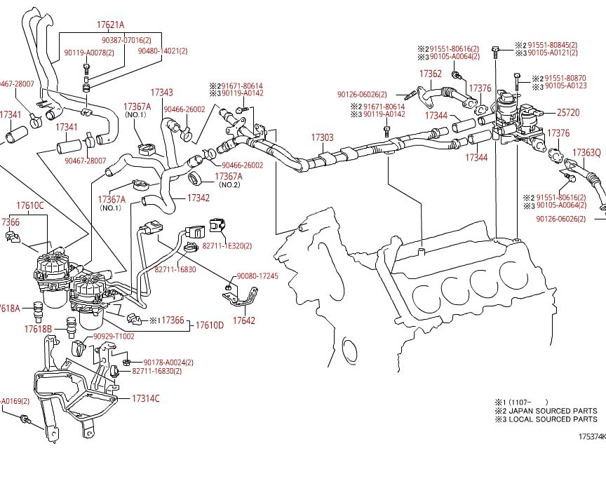 toyota 2gr fe engine diagram toyota parts schematic