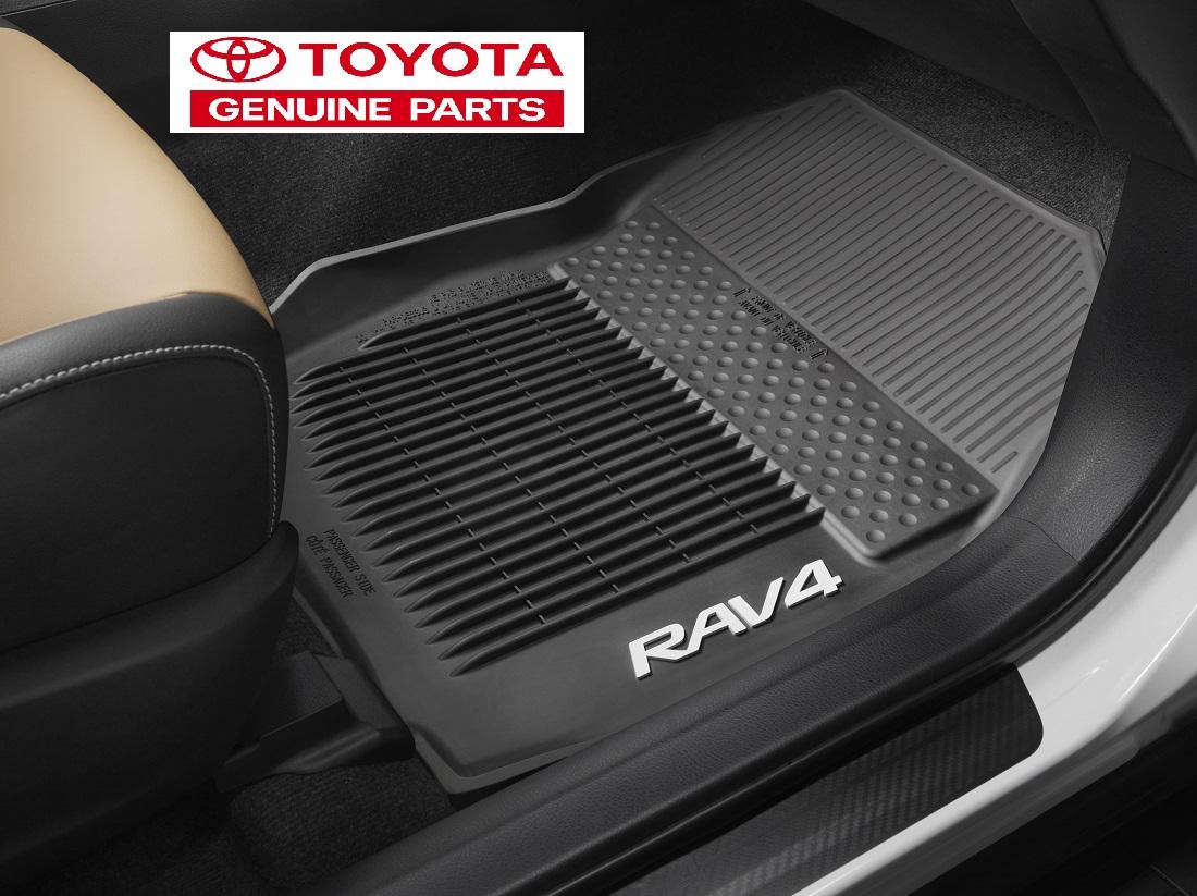 Rubber floor mats rav4 - Toyota Oem 2016 17 Rav4 Rubber Floor Mat Liner Set Pt908 42165 20