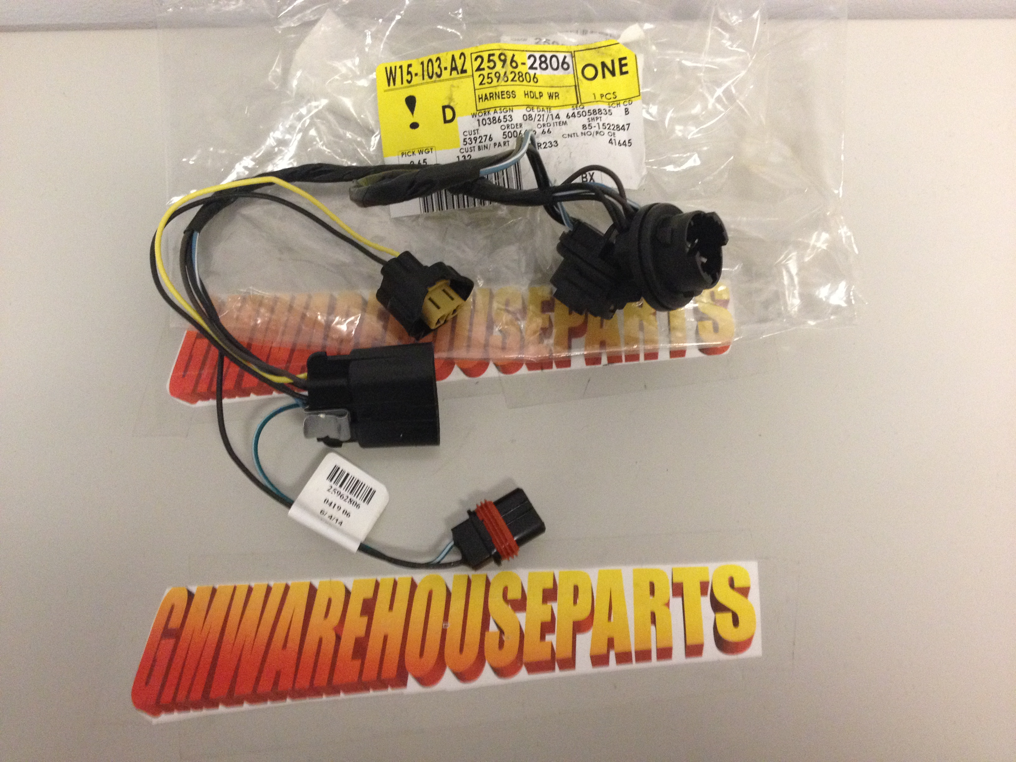 chevy silverado headlight wiring harness new gm 2007 2013 chevy silverado headlight wiring harness new gm 25962806