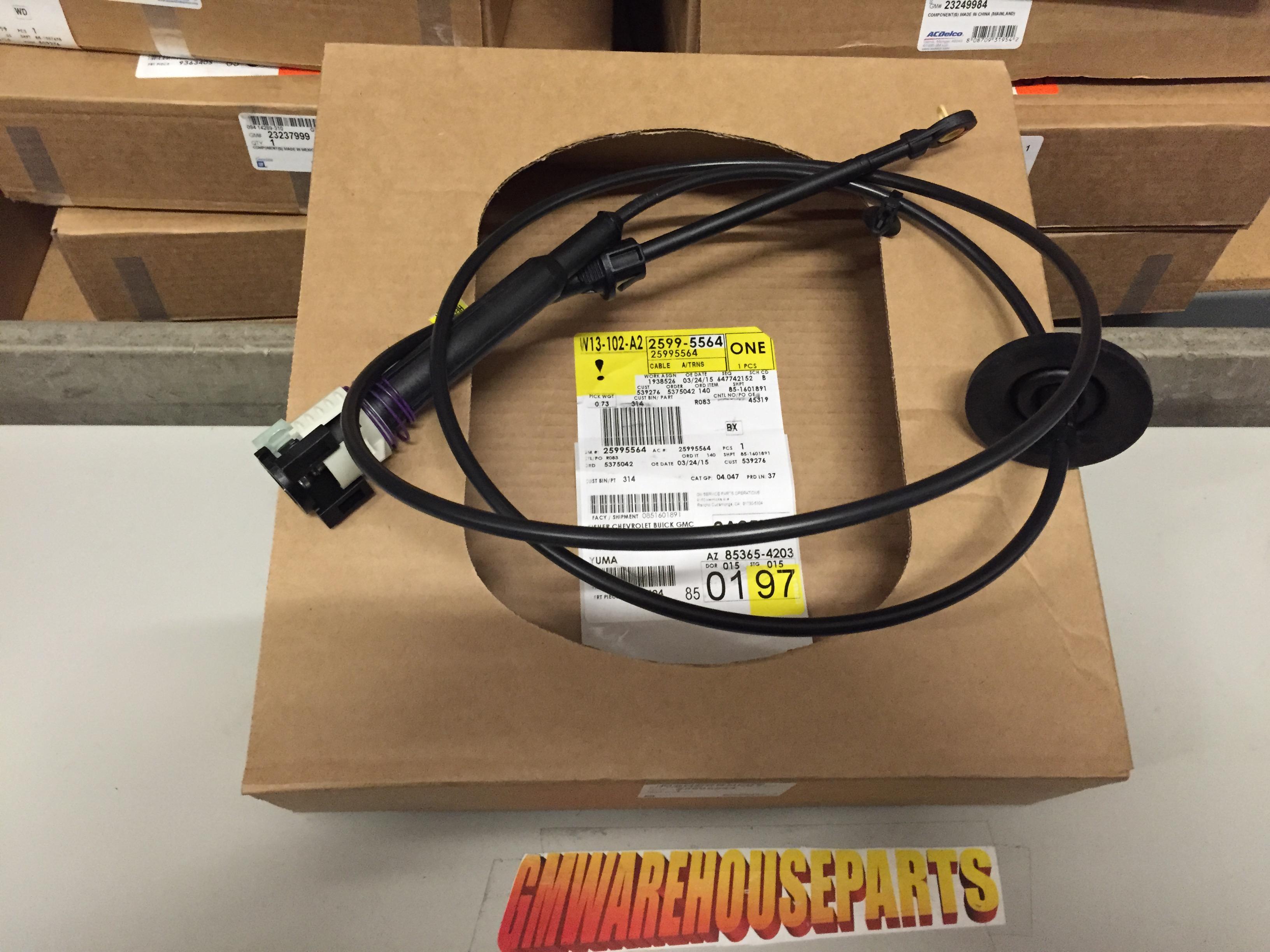 silverado sierra tahoe yukon upper shift control cable new gm 25995564 ebay. Black Bedroom Furniture Sets. Home Design Ideas