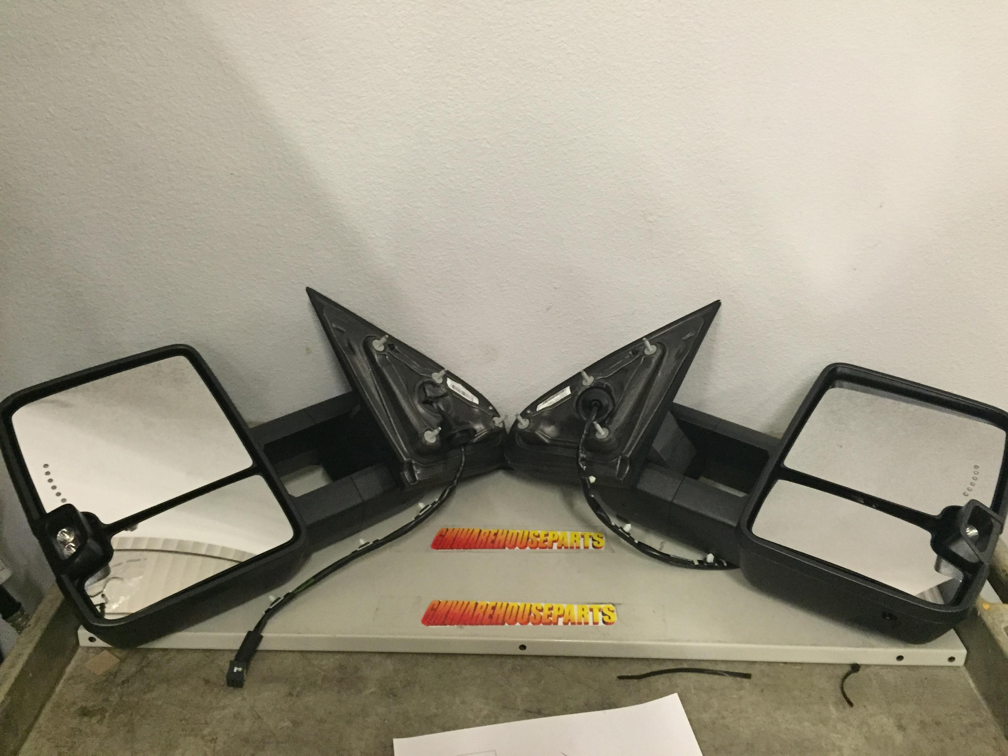 2015 2016 silverado sierra towing mirror kit camper mirror kitnew gm 23372182 ebay. Black Bedroom Furniture Sets. Home Design Ideas