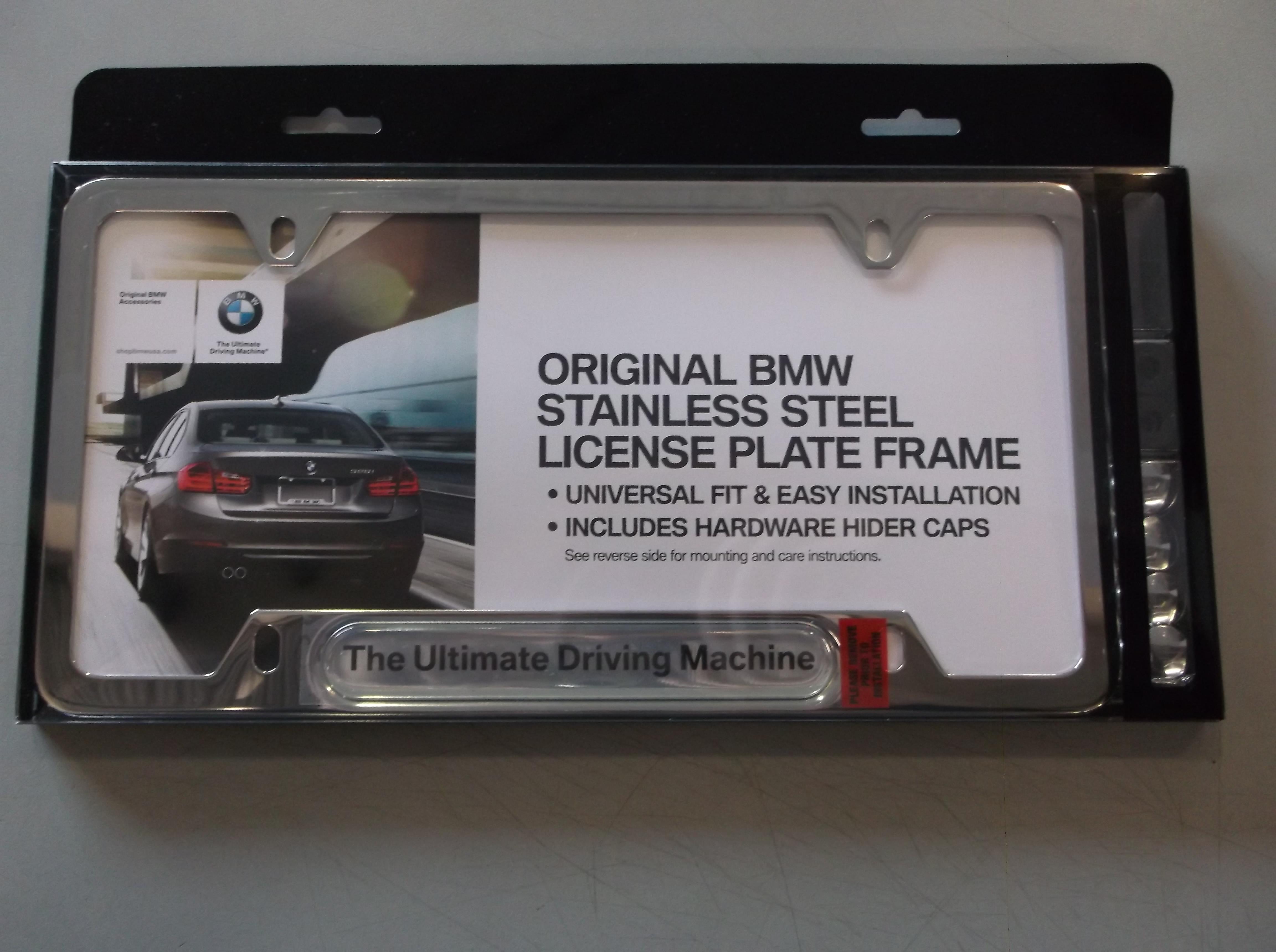 bmw license plate frame ultimate driving machine 82112210416 ebay. Black Bedroom Furniture Sets. Home Design Ideas