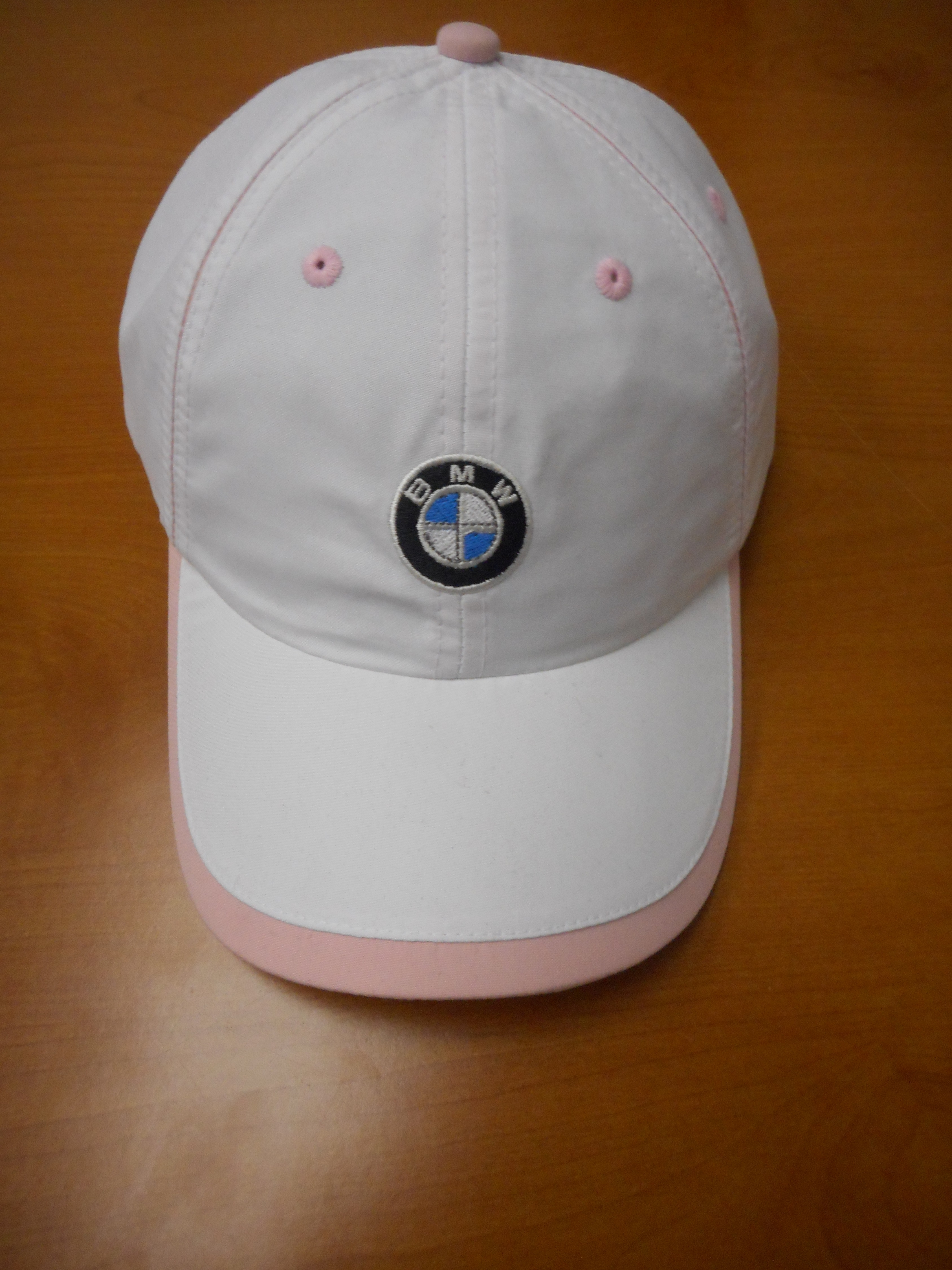 BMW Ladies Microfiber Cap - White/Pink - 80160439609