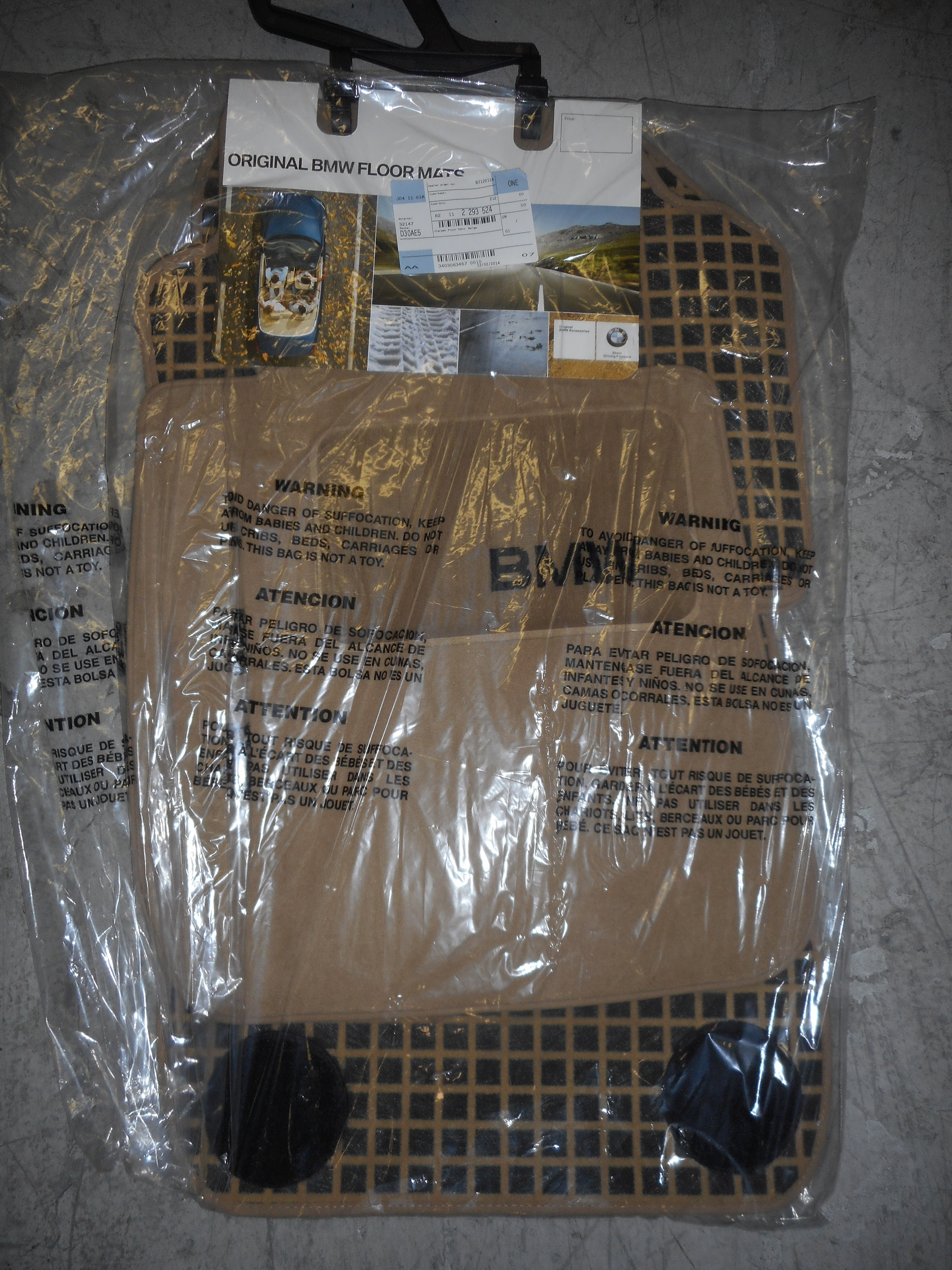 Weathertech floor mats bmw 328i - Bmw 3 Series Set Of Carpet Floor Mat Beige 82112293524 Fits More