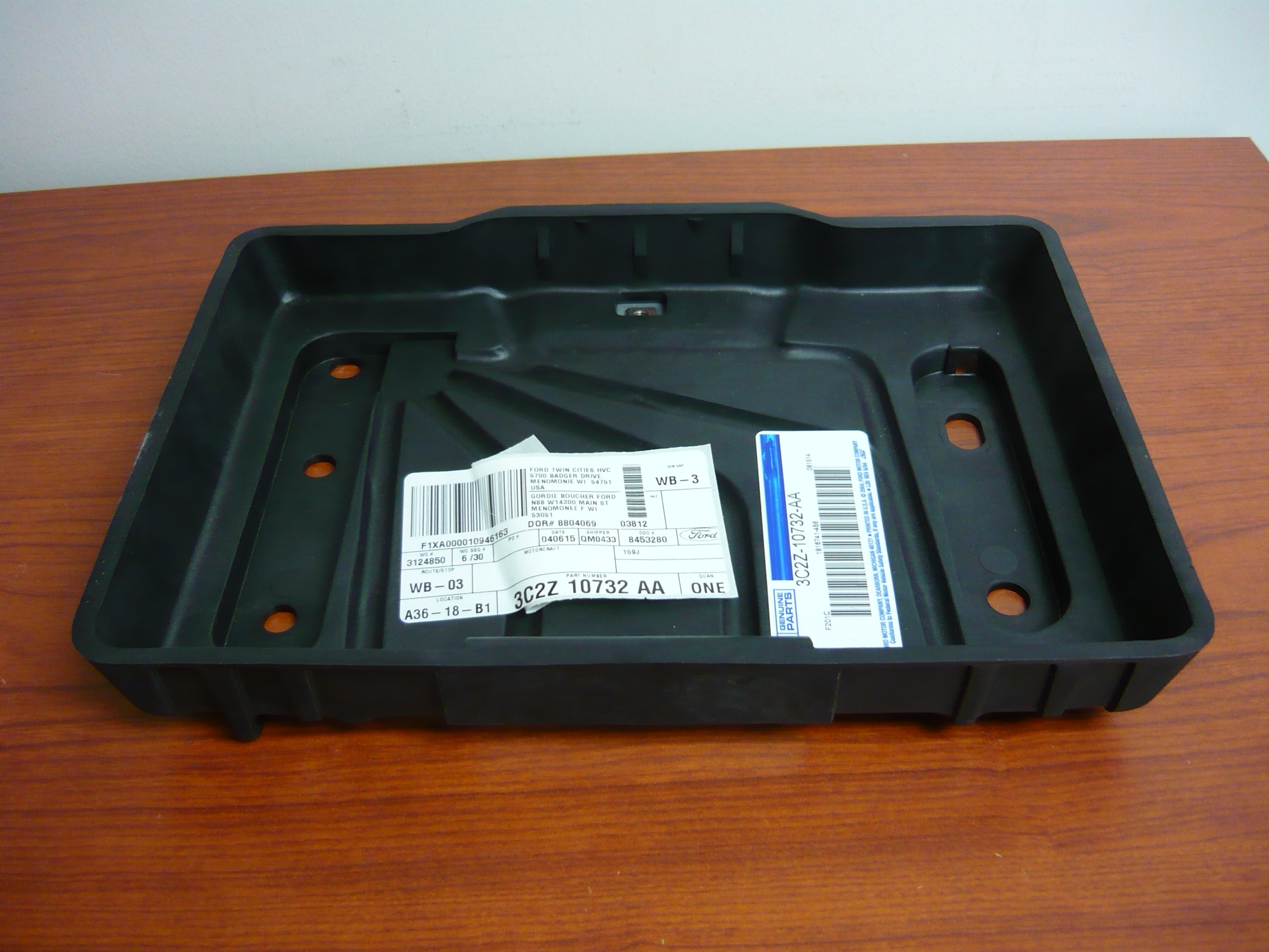 ford econoline battery tray
