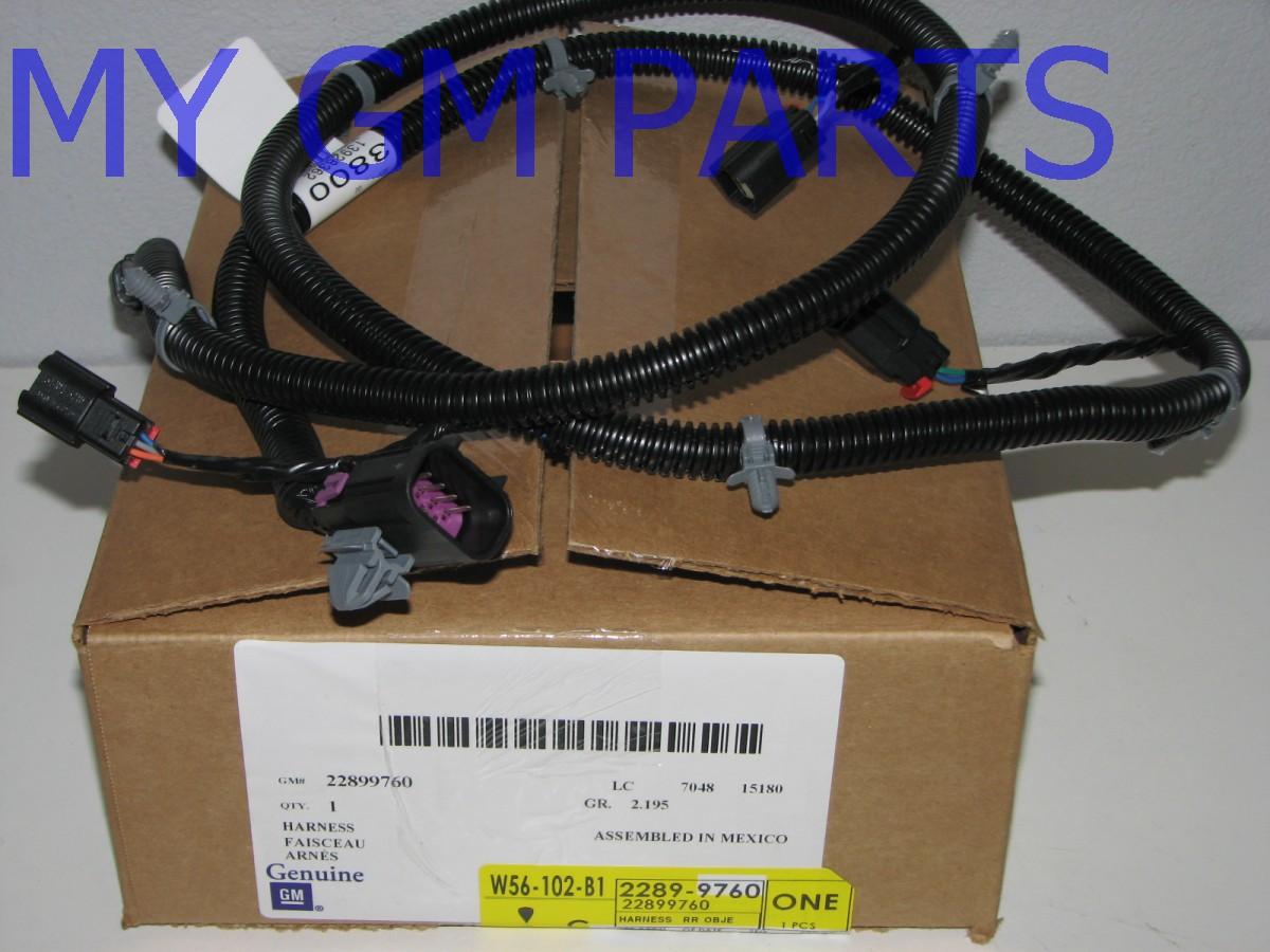 tahoe yukon escalade back up object sensor wiring harness ltz denali 22899760 ebay