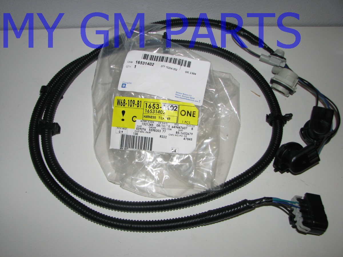 gmc sierra tail light wiring harness gmc image silverado passenger tail light tail lamp wiring harness 2003 2007 on gmc sierra tail light wiring