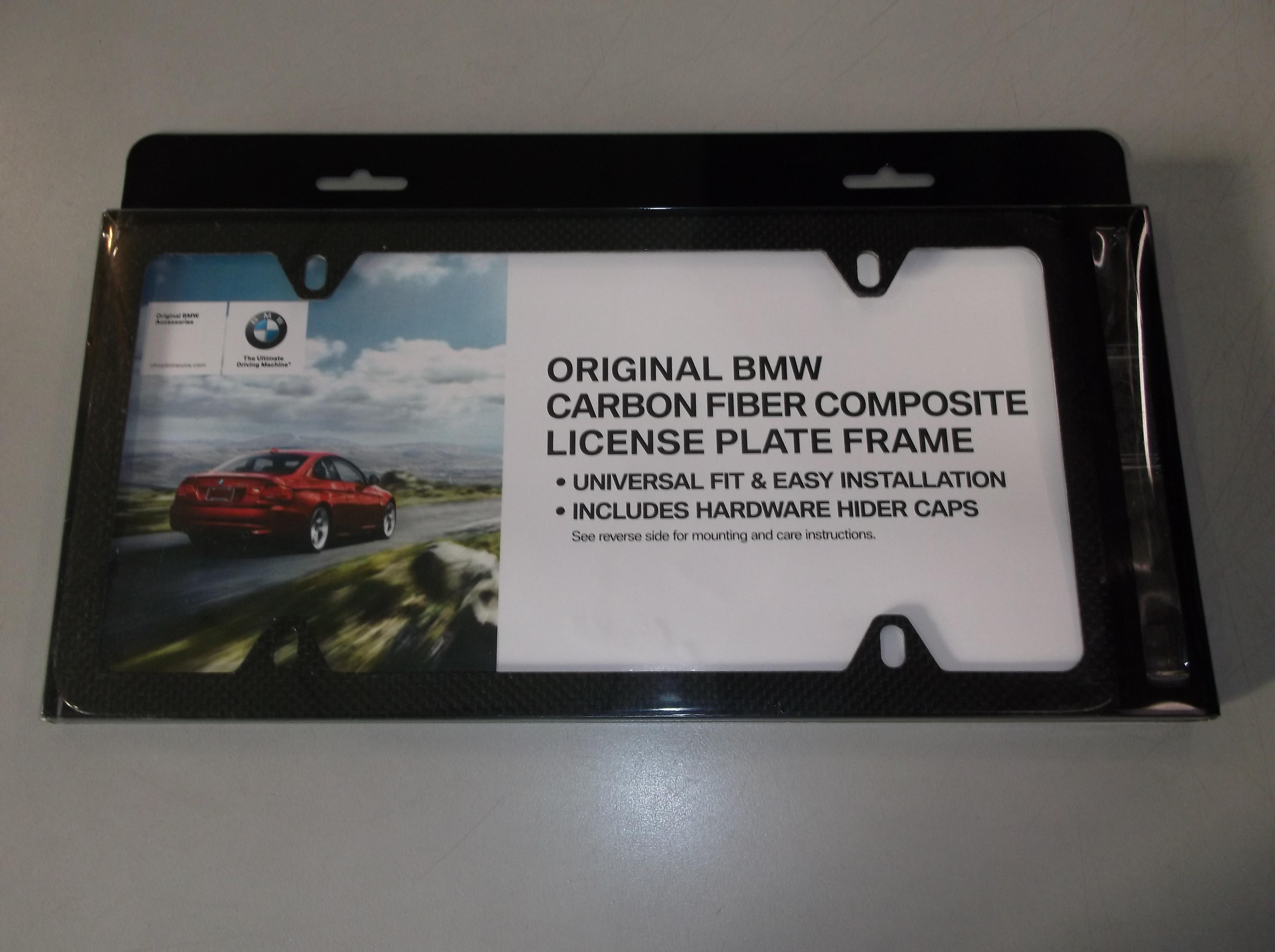 Bmw marco de matrícula-Fibra De Carbono - 82112210415 | eBay